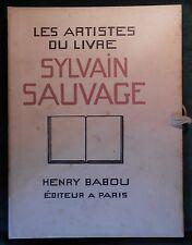 Les Artistes du Livre, Sylvain SAUVAGE, Henry BABOU 1929 1/50 ex. num. sur JAPON