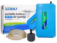 Battery Backup Air Pump With  Airline & Airstone Aquarium Fish Tank Pond Aerator
