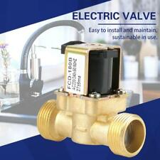G3/4 2 Way Water Inlet N/C Normal Closed Electric Solenoid Valve AC 220/240V RH