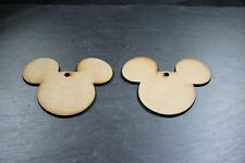 Disney Mickey Mouse Heads X10 MDF, Blank, Shapes, Christmas Decoration, Wooden,