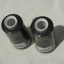 2 Spools Maxi-Lock Serger Thread Black 3000 Yards Each