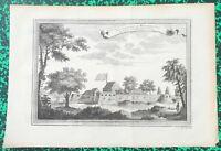 XVIII ème - Togo - Vue du Fort Guillaume à Juida par N. Bellin  36x25 cm de 1747