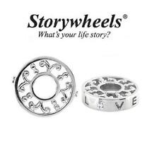 Storywheels argento Sterling Charm Amore Diamante & Perline, Matrimonio, APRILE Pietra Zodiacale