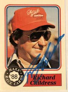 Richard Childress NASCAR LEGEND Autographed Signed  CARD