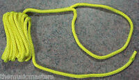 """(1) Yellow Double Braided 3/8"""" x 15' ft Boat Marine HQ Dock Line Mooring Rope"""
