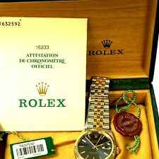 Men's Rolex  Datejust Two-Tone 18K Gold Stainless Watch Blue Dial 16233