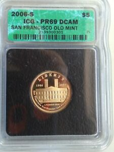 2006-S ICG - PR69 DCAM San Francisco Old Mint 1/4 Ounce Gold Coin