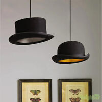 Jeeves / Wooster Wool Hat Tall Hat Bowler Pendant Light Ceiling Lamp Lighting