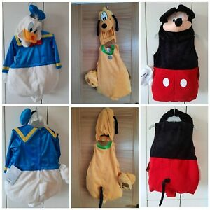 Disney Mickey Mouse, Donald Duck & Pluto Fancy Dress Costume 18-24months