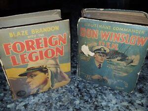 2 Big Little Books 1935 Don Winslow USN Lt Commander  + Foreign Legion Blaze