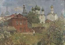 """Russian Monastery "" Original Russian Oil Painting"
