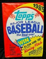 1 (one) - BBCE 1985 UNOPENED TOPPS BASEBALL WAX PACK From BBCE FASC SEALED BOX!