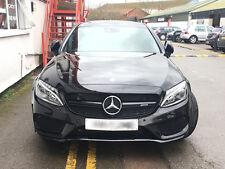 Mercedes W205 S205 Clase C AMG C63 Estilo Negro Brillante Parrilla Rejilla de deporte