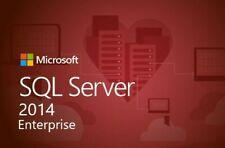 SQL Server 2014 enterprise 24 cores Unlimited Cal product key/30 SEC DELIVERY