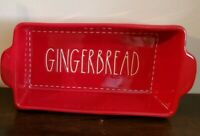 Rae Dunn by Magenta Christmas Red GINGERBREAD Baking Loaf Pan 2019 NEW