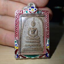 Phra Somdej Vintage Pendant Buddha Wat Rakang BE.2411 Rare Old Thai Amulet