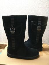UGG CARGO RETRO BLACK SUEDE LEATHER Boot US 5 / EU 36 / UK 3.5 - NIB