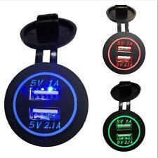 Splitter Cigarette Lighter Socket Power Adaptor 12-24V Dual USB Port Car Charger