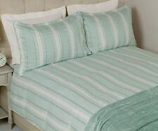 LAURA ASHLEY - Forbury Stripe Jacquard - DOUBLE duvet cover set - Duck Egg Blue