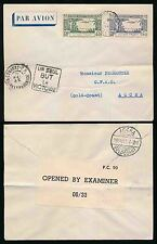GOLD COAST INCOMING from GUINEA WW2 CENSORED AIRMAIL 1943