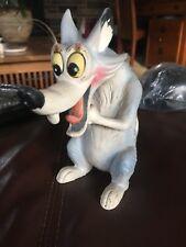 Vintage Big Bad Wolf Cartoon Figurine Statue Rare Disney