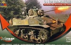 Mirage U.S.Lumière Réservoir M5A1 Guides 1944 Normany 1:72 Modèle-kit Neu Kit