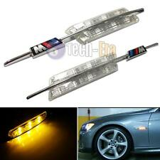 1 Pair Crystal Lens Amber LED For BMW E81 E88 E90 E92 E60, etc Side Marker Lamps
