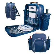 Picknickrucksack mit drei integrierten Kühltaschen & Zubehör für 4 Personen