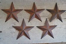 "Set of 5 ~ 5.5"" Rusty Black Barn Stars Metal Tin Primitive Country 5 1/2"""