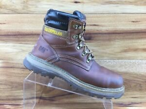 Caterpillar Cat Fairbanks Steel Toe Mens Leather Work Boots P91061 Mens Size 8