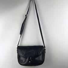 Oroton Leather Cross Body Black Purse Satchel Shoulder Bag