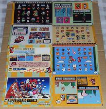 Japanese NES Famicom History Book Jumbo Stickers - Super Mario Bros 3