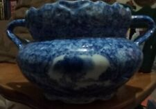 Antique Oriental Blue And White Pot/Bowl With Handles