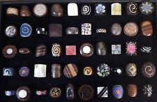 50 piezas al por mayor de joyas mixtas hueso de madera hecho a Mano Natural Moda Anillo muchos 51