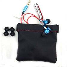 PU Leather Black Replacement Carrying Soft Pouch Case Bag For Headphone Headset