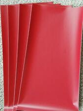 "Four (4) sheets 12"" x 24"" ORACAL 631 Craft Adhesive Vinyl in RED"