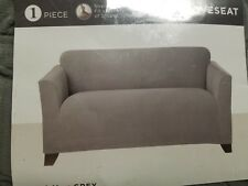 Sure Fit Stretch Maya Grey Loveseat Sofa Slipcover