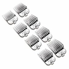 ANDIS 8 PIECE MAGNETIC CHROME COATED PLASTIC CLIPPER COMB GUIDES.