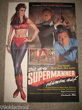 Die drei Supermänner räumen auf - KINOPLAKAT A1 - Fantastic Three Tony Kendall