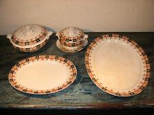 Vintage Vorlege Set Morfenix Ware Hanley Jewel 2 Terrinen + 2 Servierplatten