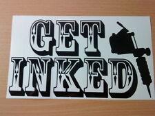 tattoo get inked studio shop window door sign vinyl graphic sticker gun fun ink