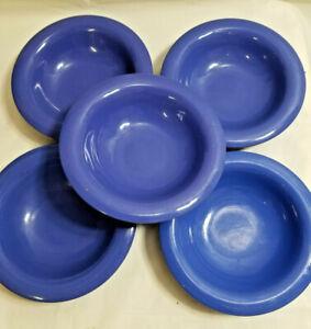 5 Carlisle Melamine Durus 8oz Rimmed Bowl Restaurant Dessert Cereal Blue 43040