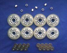 Rollerblade Inline Hockey Skate Wheels (70mm / 78A) + ABEC 7 Bearings + Spacers