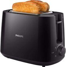 Philips Toaster, integrierter Brötchenaufsatz, 8 Bräunungsstufen - Schwarz