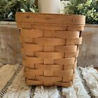 """Vintage Longaberger 1994 Small Spoon Basket 6"""" Tall 5.5"""" Wide EXC"""