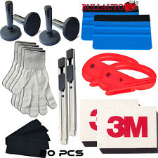 Car Wrap Vinyl Tools Kit 3M Felt Squeegee Razor Cutter Gloves 4 Magnets Knife AU