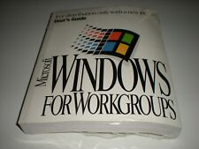 "Microsoft Windows 3.11 for Workgroups full OEM sealed package with 3.5"" disks."