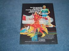 """1975 Converse Coach Athletic Shoes Vintage Ad """"For The Up Pulse, Leg Churning..."""