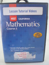 HOLT California Mathematics Course 1 Lesson Tutorial Videos CD-ROM 264 videos