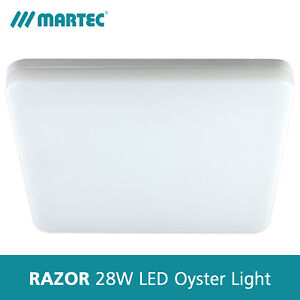 Martec Razor 28W Dimmable LED Oyster Light - Square